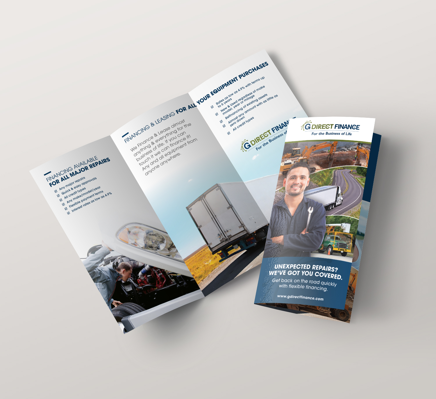 <strong>GDirect Finance</strong> tri-fold brochure