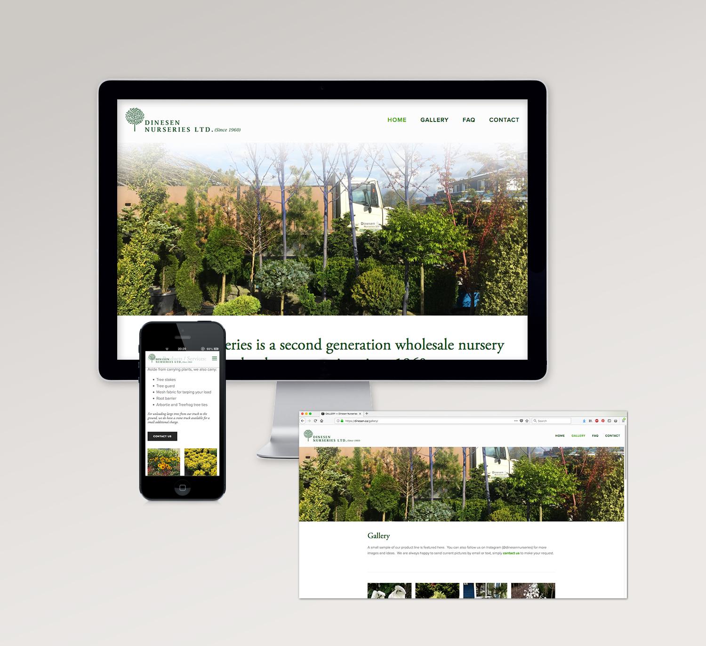 <strong>Dinesen Nurseries</strong> website design