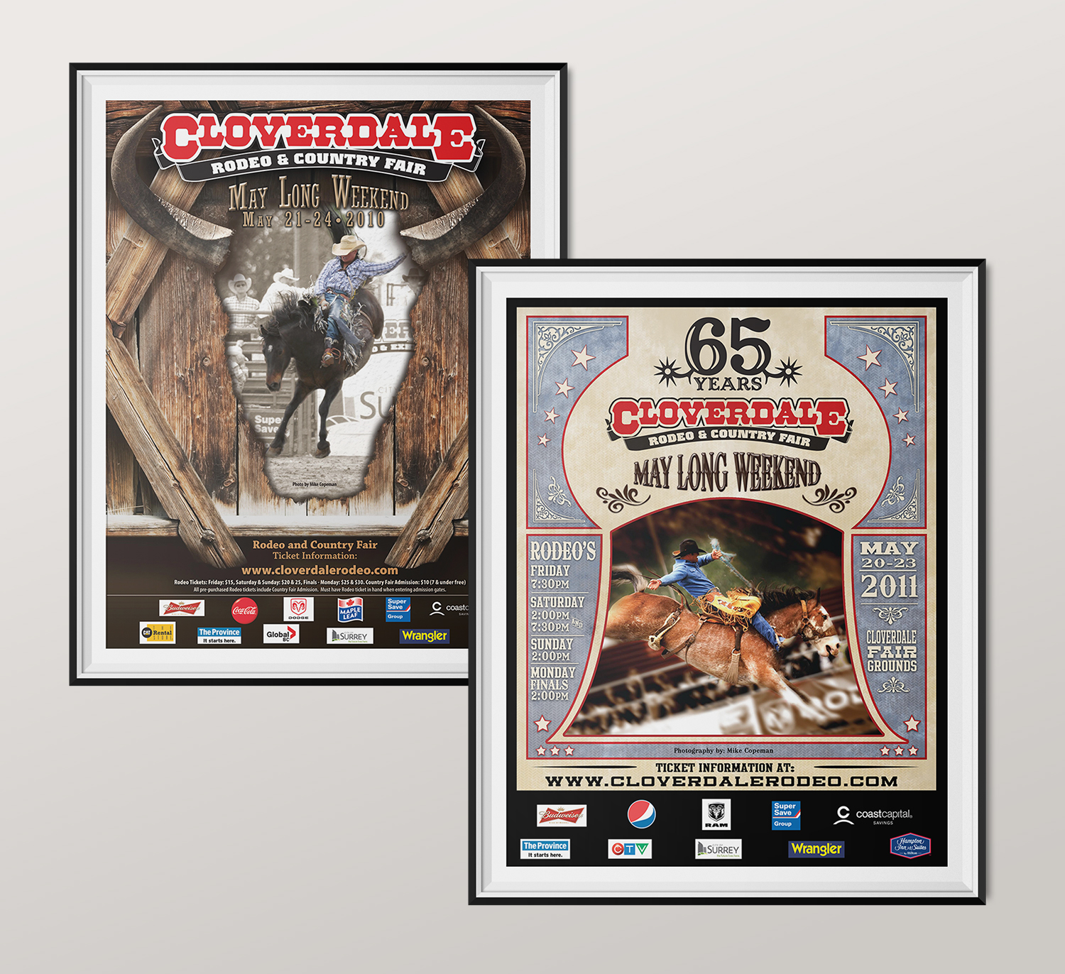 <strong>Cloverdale Rodeo</strong> 2010 & 2011 poster design