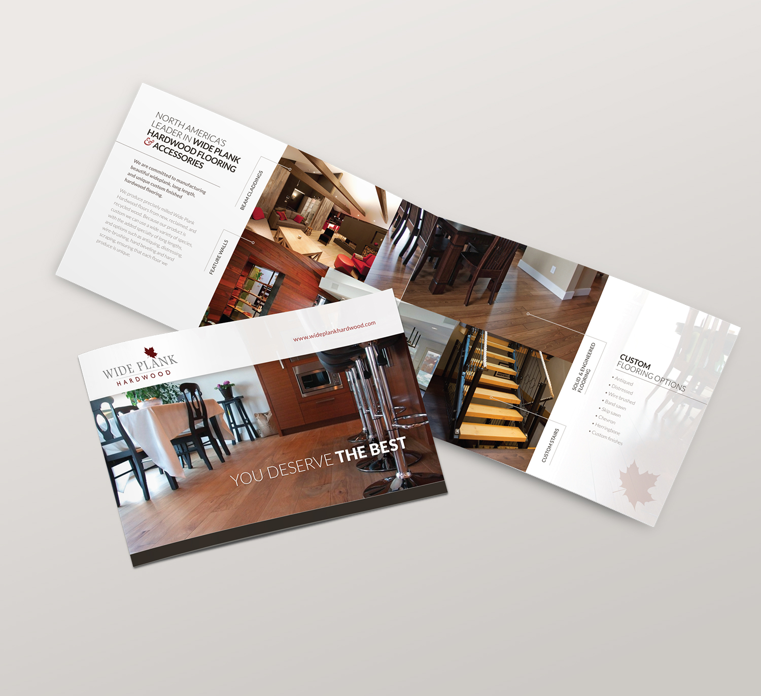 <strong>Wideplank Hardwood</strong> product booklet under Circle Graphics & Design