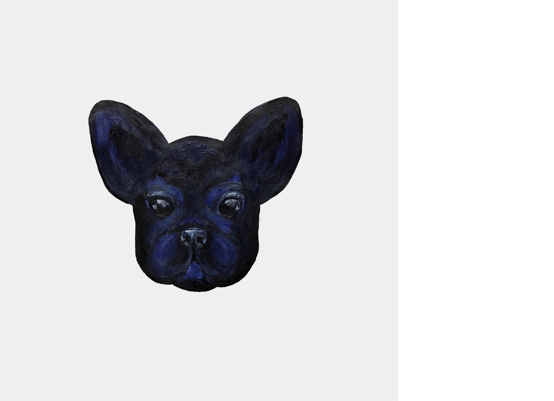 Frenchie  painted by Mathilde Gilling, 2017