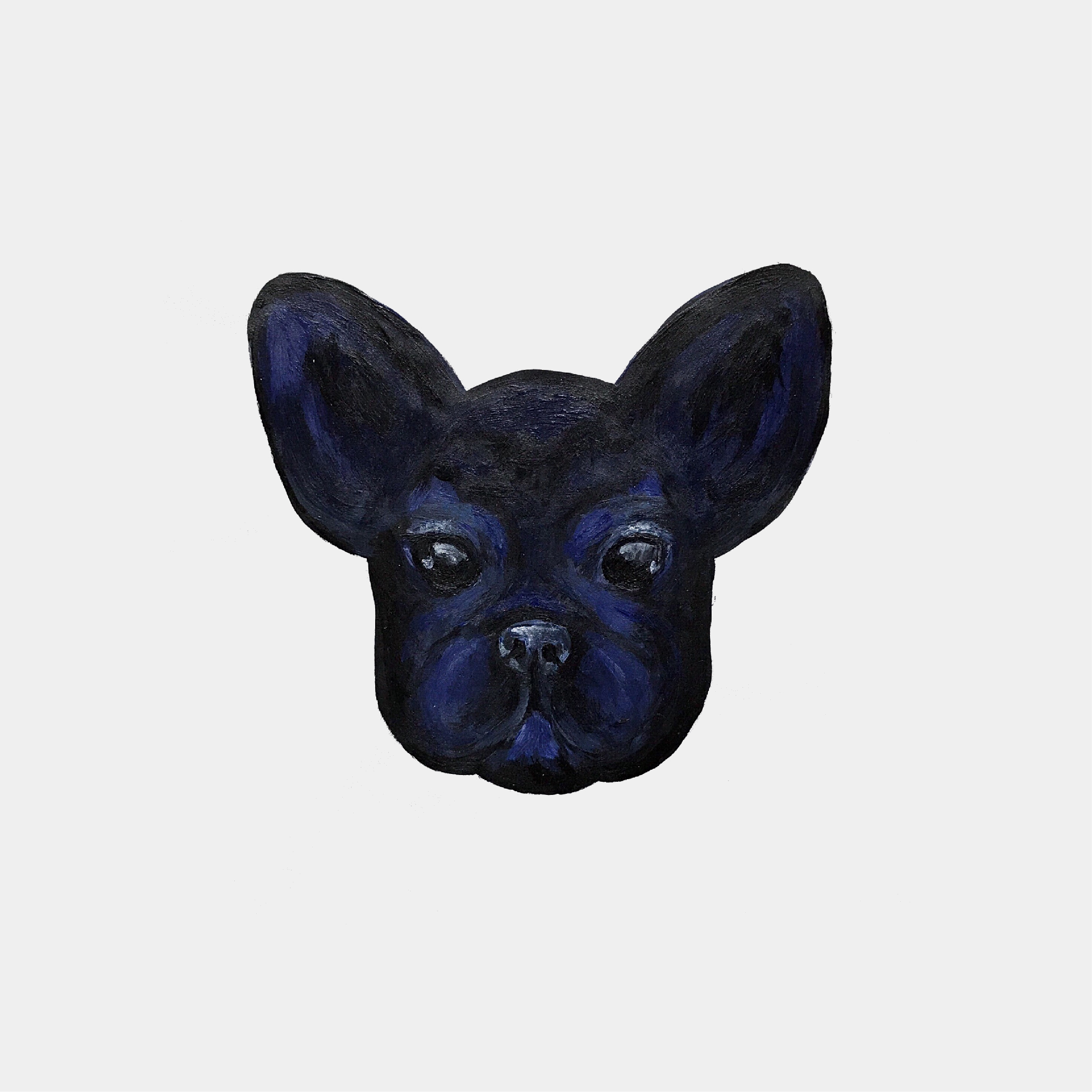 """""""Frenchie"""", painting, 2017"""