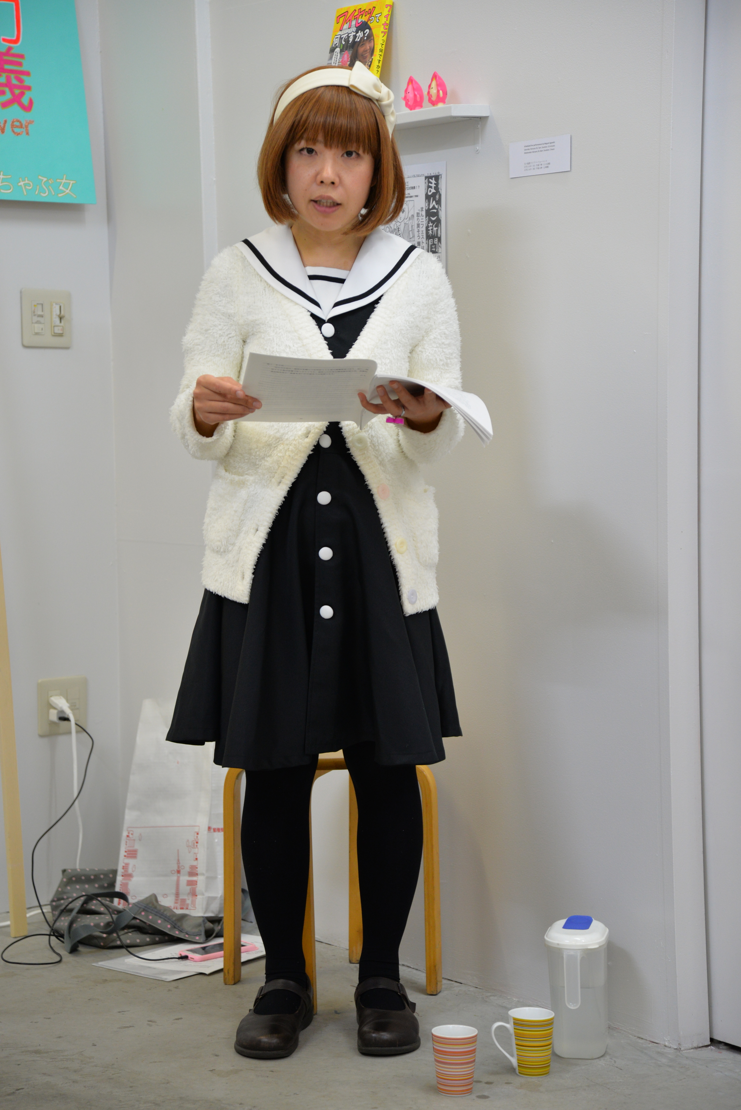 """Megumi Igarashi  Court Performance # 2, 2016  Wednesday February 24   4pm: Reading her lawyer's defense, 2 hours. On wall: Book, toys and shelf.            Normal   0             false   false   false     EN-AU   X-NONE   X-NONE                                                                                                                                                                                                                                                                                                                                                                                                                                                                                                                                                                                                                                                                                                                                                                                                                                                               /* Style Definitions */  table.MsoNormalTable {mso-style-name:""""Table Normal""""; mso-tstyle-rowband-size:0; mso-tstyle-colband-size:0; mso-style-noshow:yes; mso-style-priority:99; mso-style-parent:""""""""; mso-padding-alt:0cm 5.4pt 0cm 5.4pt; mso-para-margin-top:0cm; mso-para-margin-right:0cm; mso-para-margin-bottom:10.0pt; mso-para-margin-left:0cm; line-height:115%; mso-pagination:widow-orphan; font-size:11.0pt; font-family:""""Calibri"""",sans-serif; mso-ascii-font-family:Calibri; mso-ascii-theme-font:minor-latin; mso-hansi-font-family:Calibri; mso-hansi-theme-font:minor-latin; mso-fareast-language:EN-US;}"""
