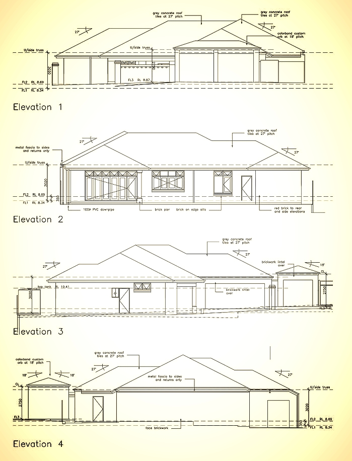 home elevations designs and plans