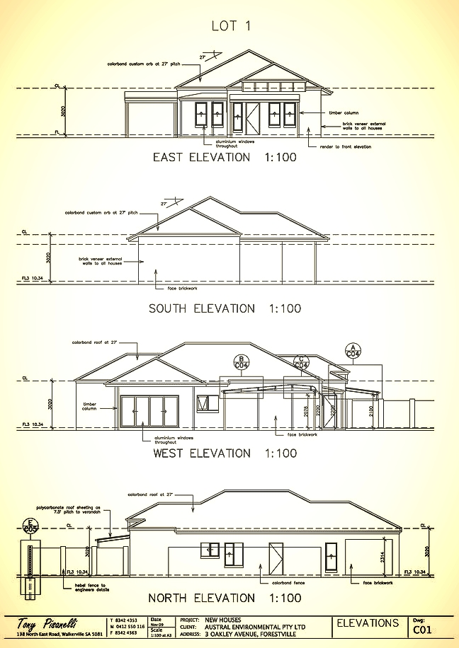 custom elevation deigns