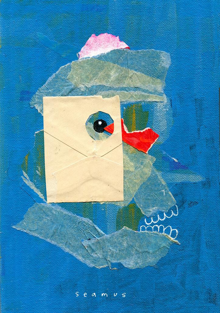 "Portrait of Seamus, Mixed media, 6.5"" x 10"""