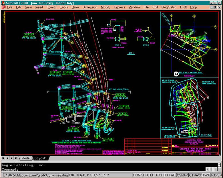 Figure 12.  Gehry Partners, E.M.P., Steel details, screenshot.
