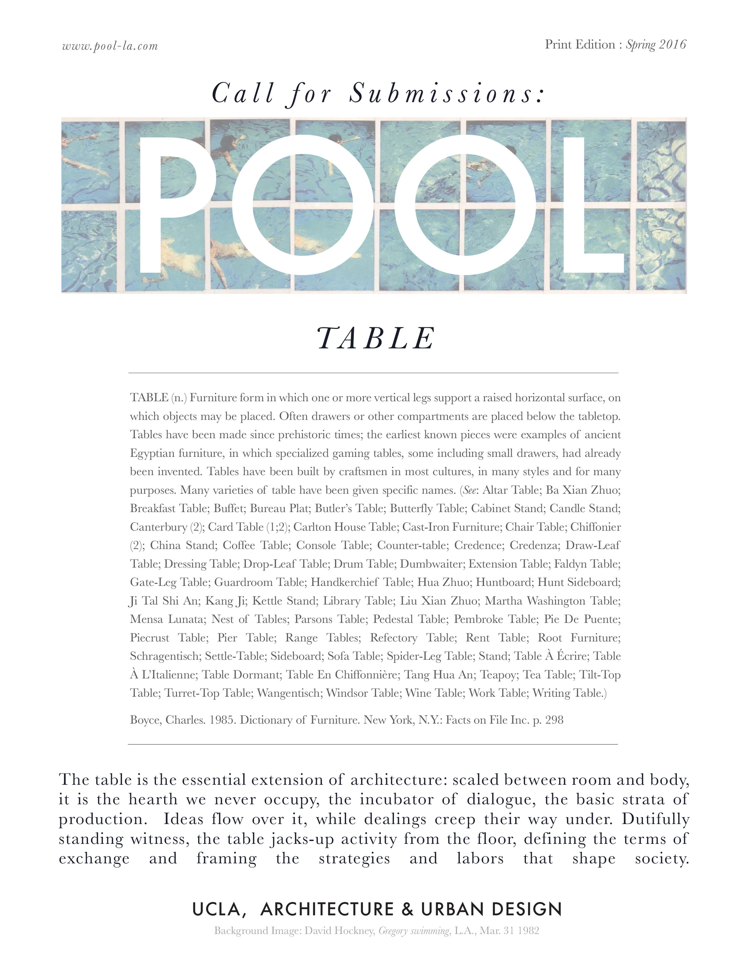 Issue No.1: TABLE
