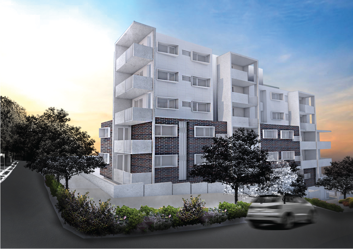 gosford - 15 unit apartment concept on a residential re-zoned block in Gosford NSW.