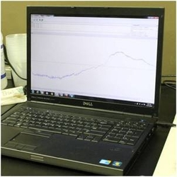 Pressure data collected by sensor