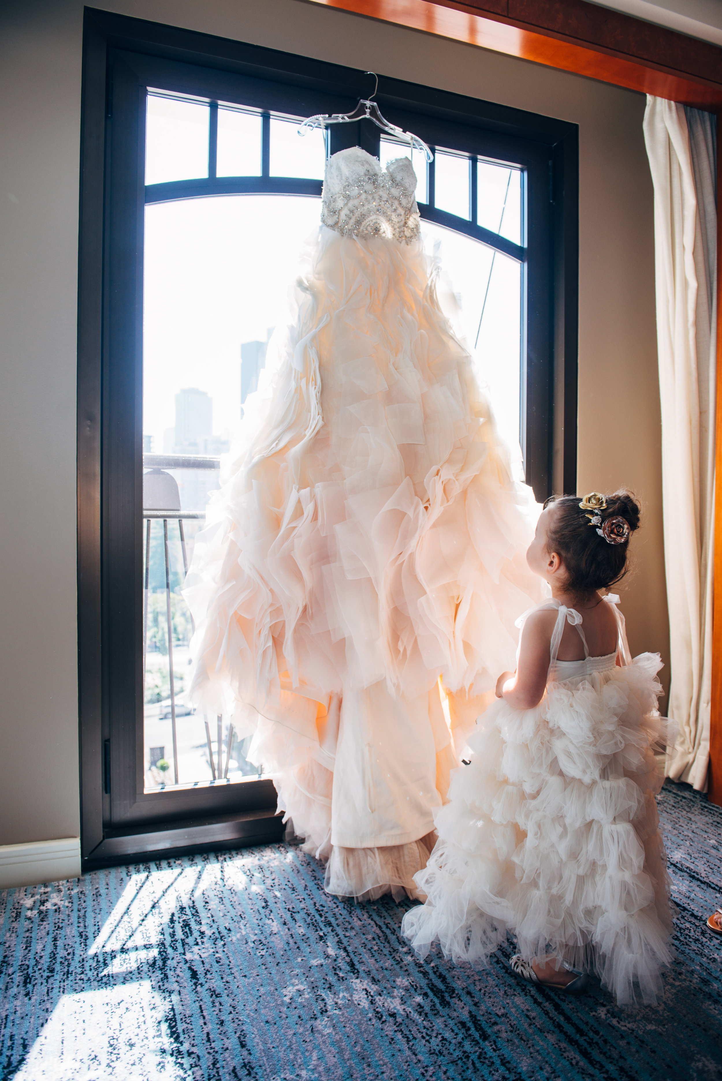 """Beth's daughter Leilah looked gorgeous in her dress from Dollcake. """"I added sparkles with Swarovski crystals."""""""