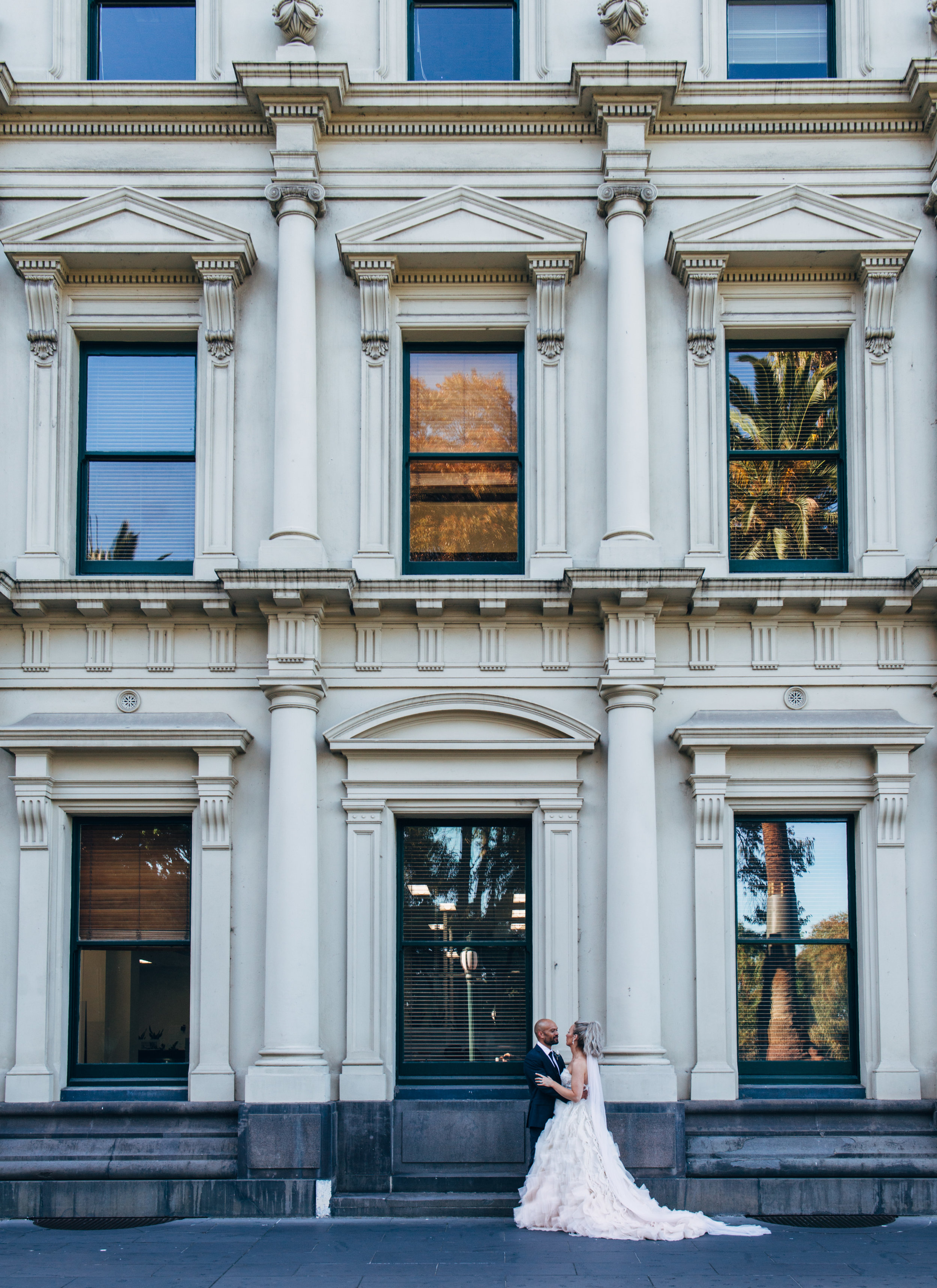 """""""The location was perfect, our photos are intimate and so Melbourne. The juxtaposition between the old world luxury of Park Hyatt Melbourne in the bustling metropolis was the perfect mix, just like us!"""""""
