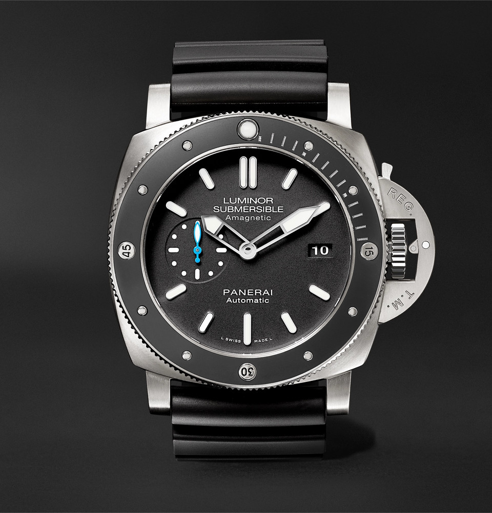 erai Luminor Submersible 1950 Amagnetic 3 Days Automatic 47mm Titanium And Rubber Watch