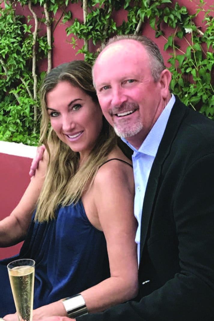 Former pro-baseball player Bret Saberhagen and author Risa Feldman.