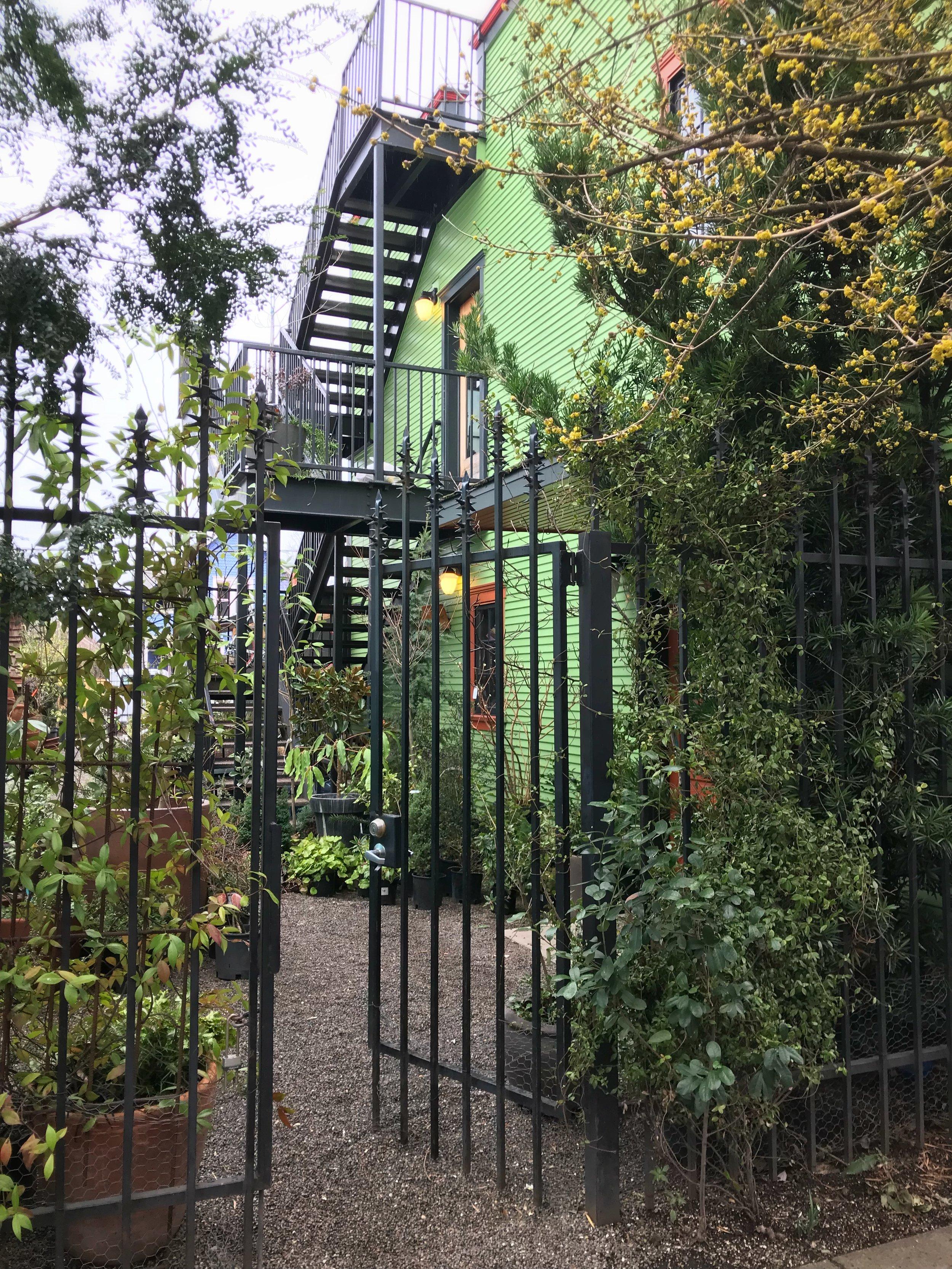 Gate to Pistils' courtyard