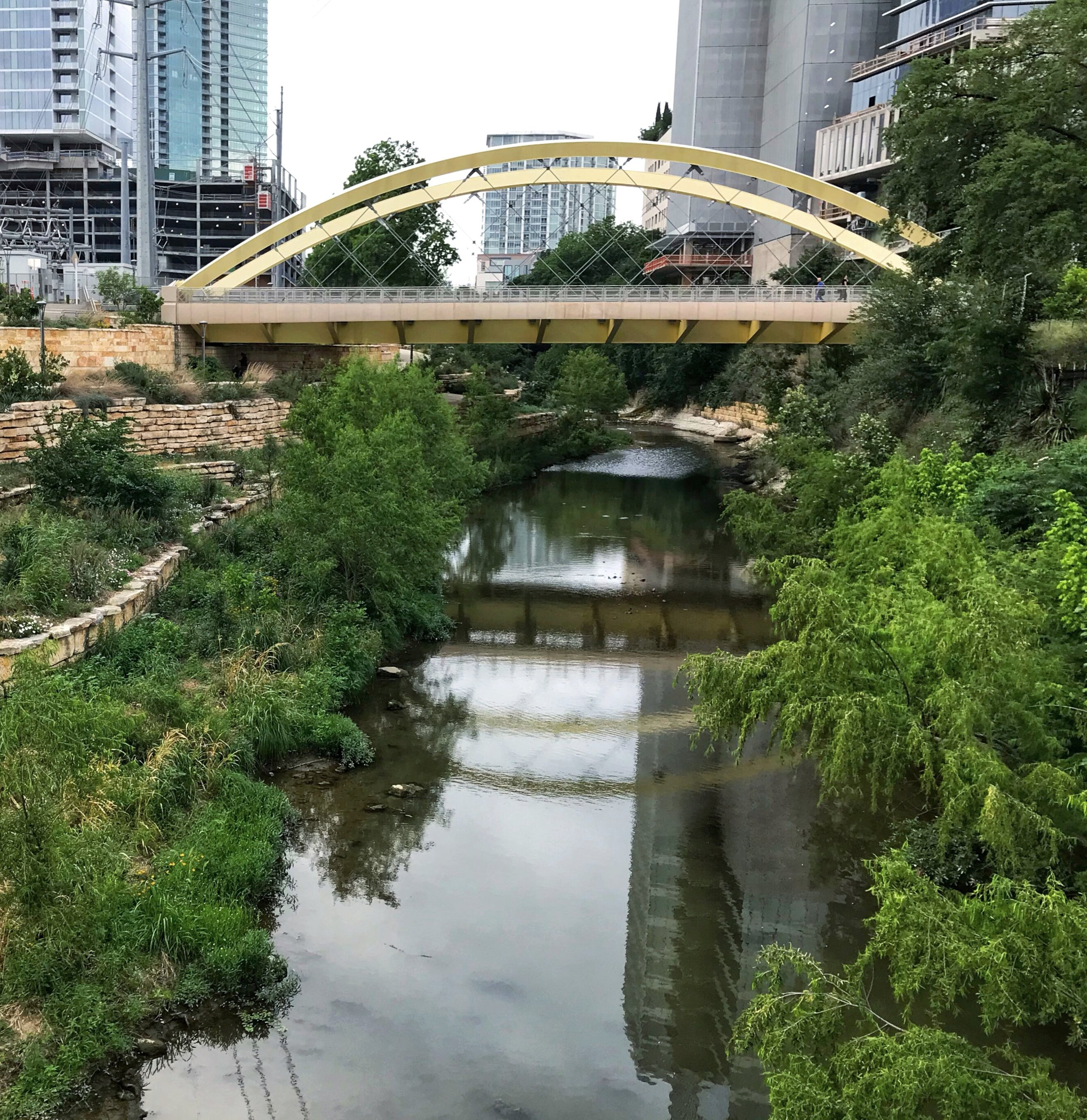 Second Street bridge at Austin Central Library, over Shoal Creek.