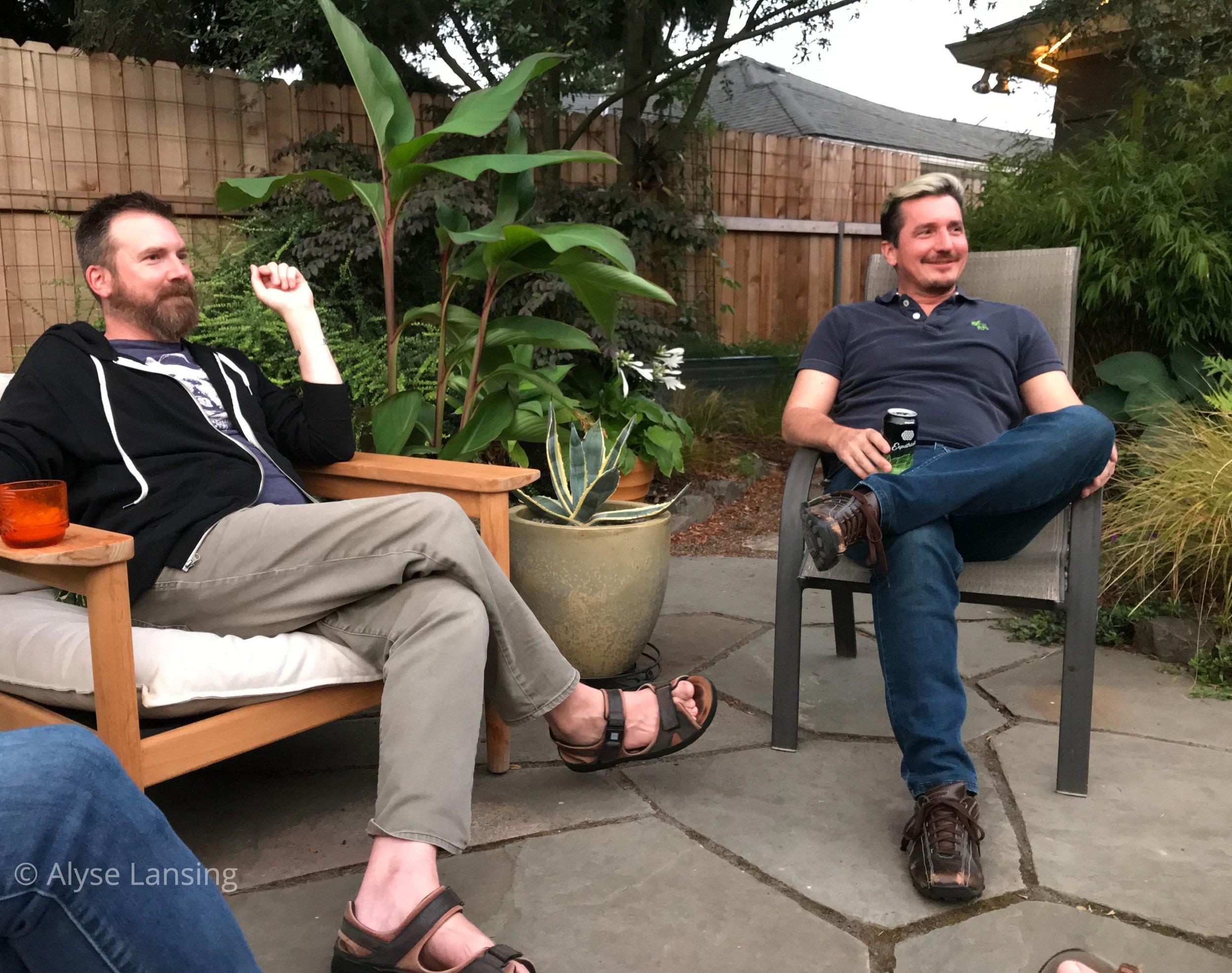 Mathew Hubbard of  The Lents Farmer  blogspot,  and Jeremiah Campion.