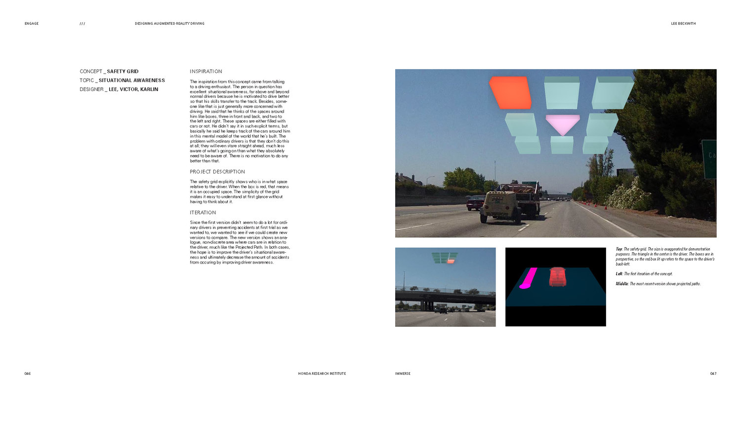 Pages from Engage: an Augmented Reality Driving Concept
