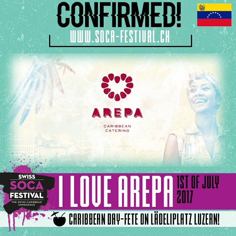 Hot hot arepas at  Swiss Soca Festival - Day 2 - Lucerne  Saturday 1. July 2017, 16:00 Caribbean Day Fete Lädeliplatz, 6003 Luzern GET YOUR TICKETS:   www.soca-festival.ch  Big Caribbean STORM is coming Soca reggae dancehall pura sabrosura calipso 🔥❤️🌴 Soca floor / Reggae floor  #swisssocafestival   #soca   #caribbeandayfete   #ilovearepa   #pancumangoto  #caribbeancatering   #streetfoodluzern