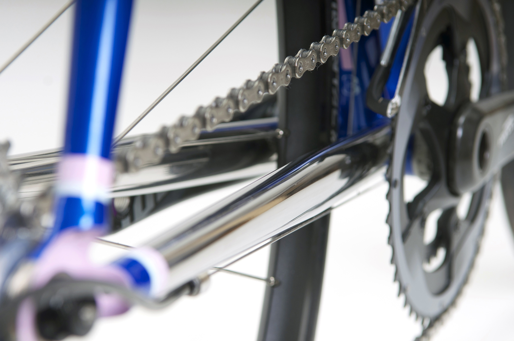 Peters Road Bike Mirror polished Chain Stay