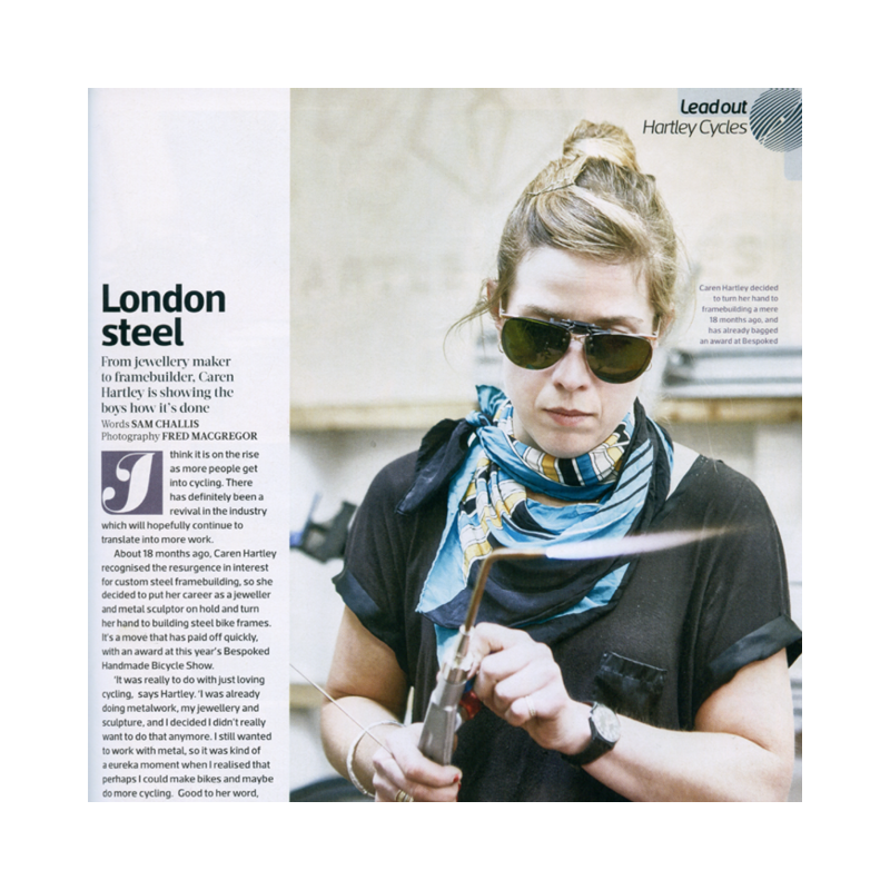 Cyclist Magazine   London Steel Hartley Cycles