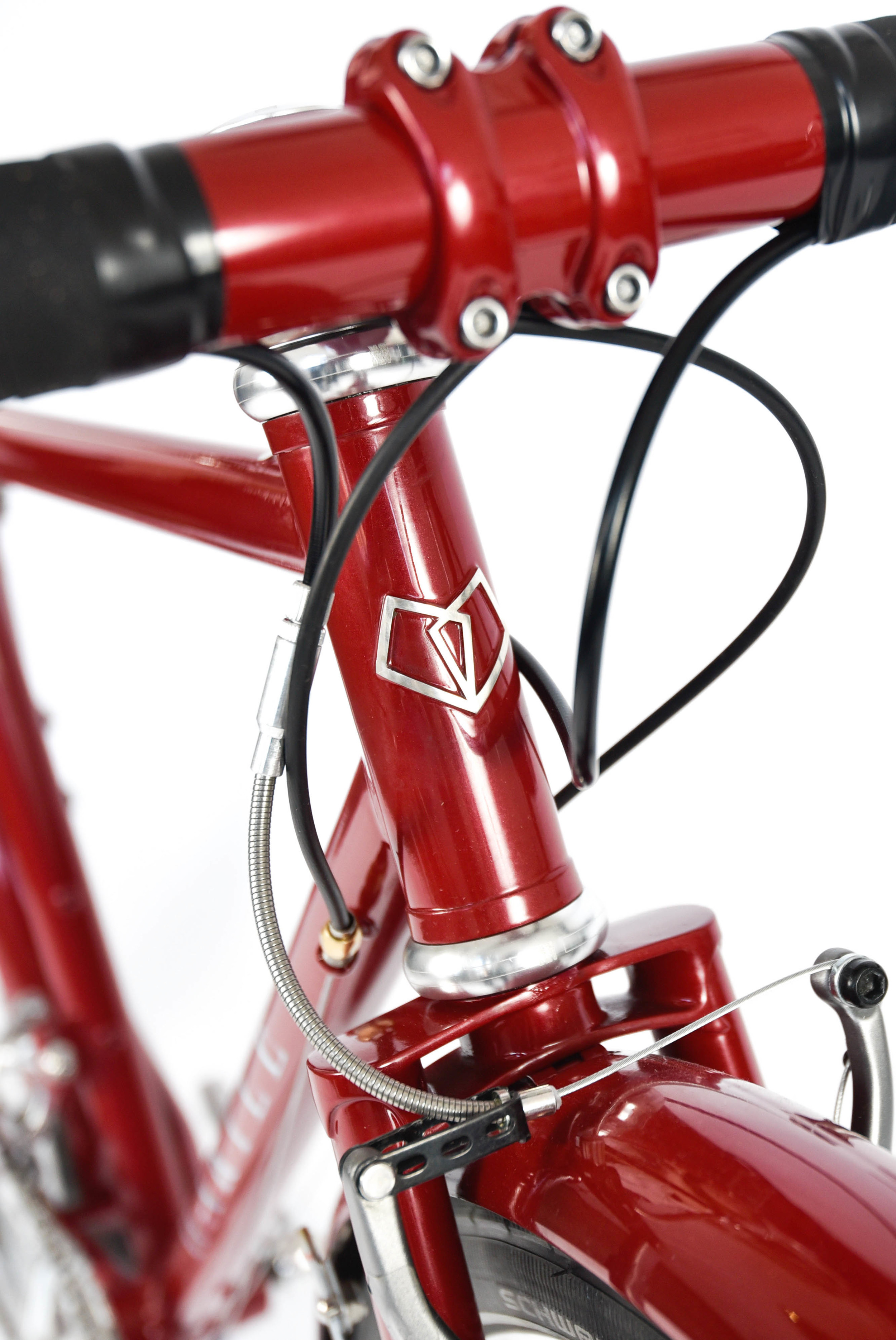853 mini touring bike headbadge