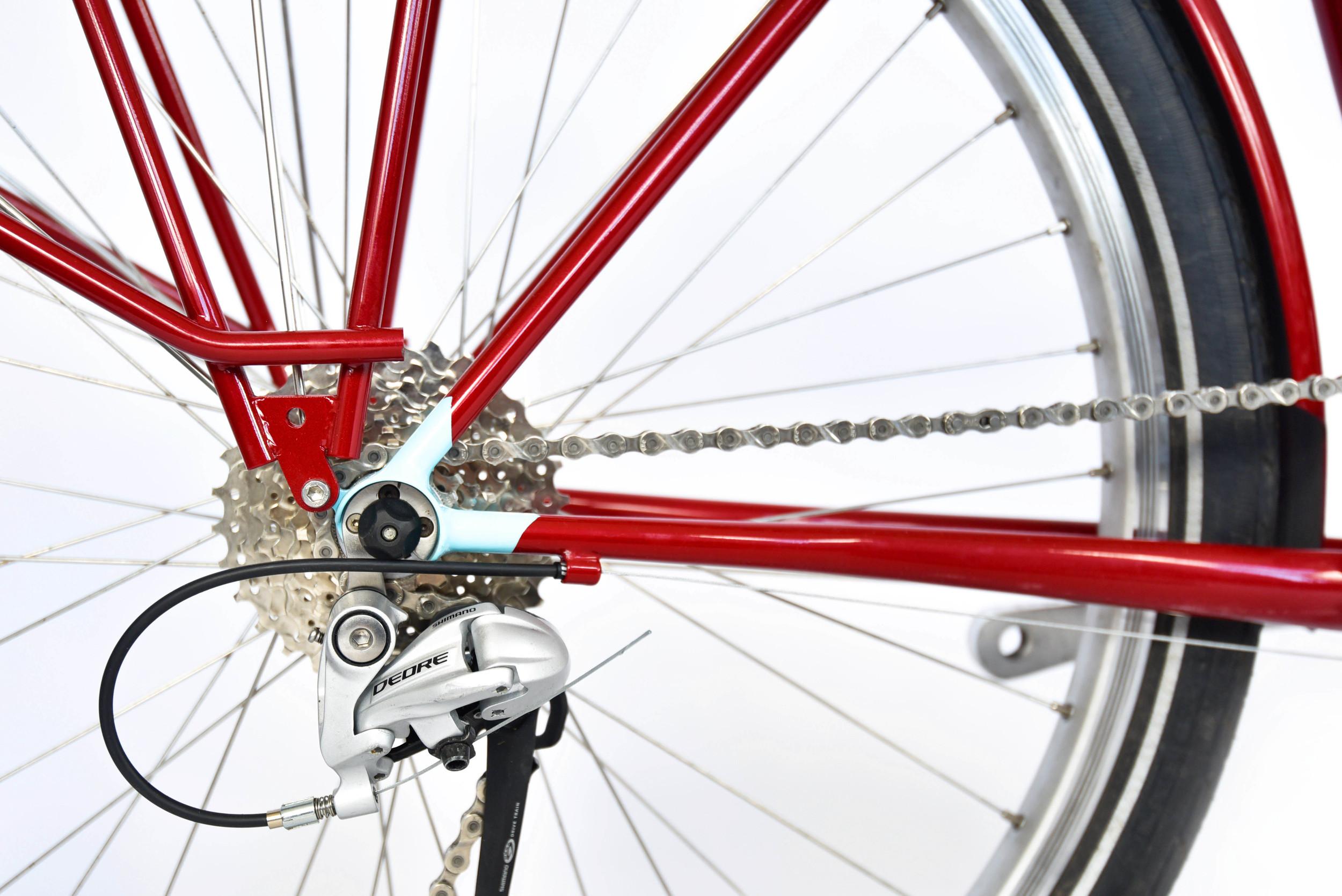 853 mini touring bike fillet brazed dropout detail