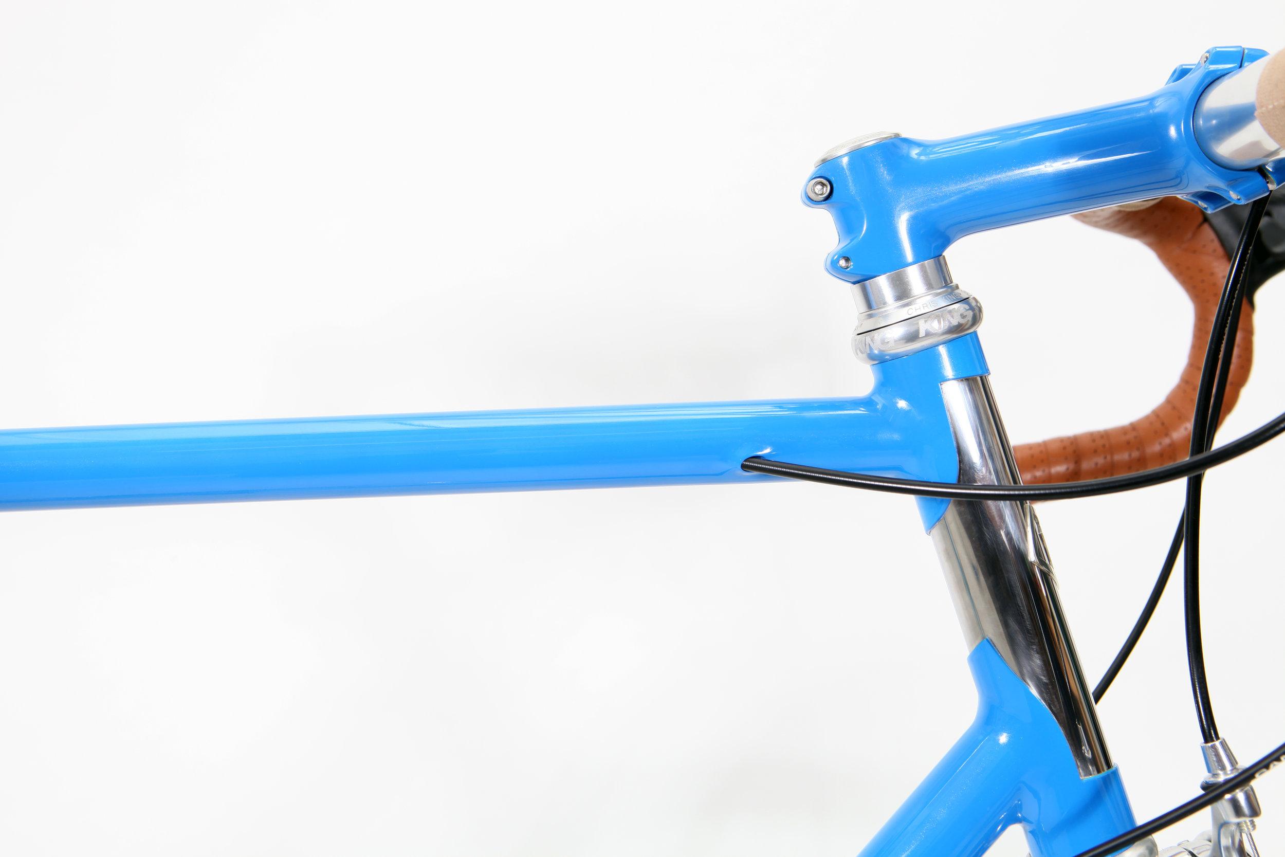 Modern Classic Lugged Stainless Steel Bespoke Bicycle, Reynolds 953, Bi-laminate Head tube