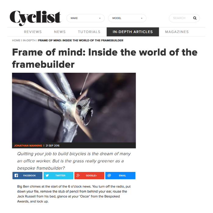 Cyclist Magazine   Frame of mind
