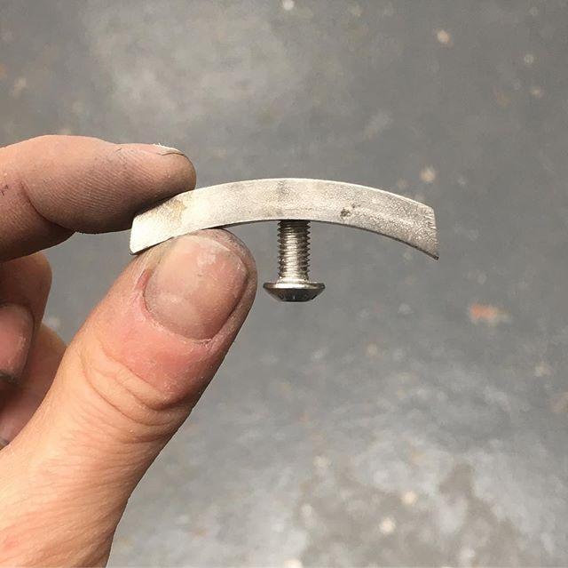 Invisible mudguard mount on Simon's #953 #stainlesssteel frame. #bespoke #madebyhand #custom #bike #roadbike #framebuilder #frame #london #steel