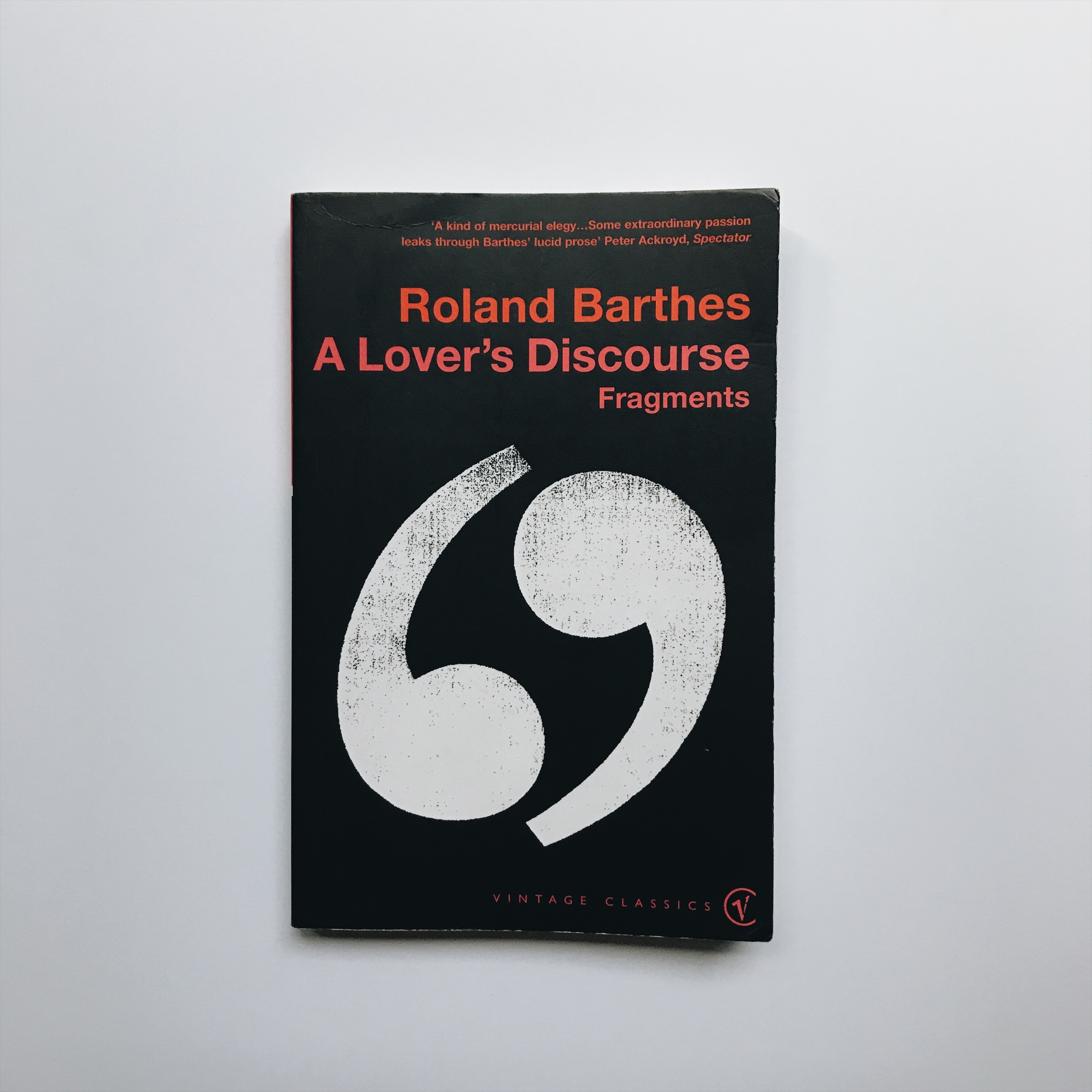 6/ A Lover's Discourse — Roland Barthes