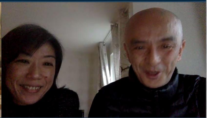 Rihoko Sato och Saburo Teshigawara - glada.