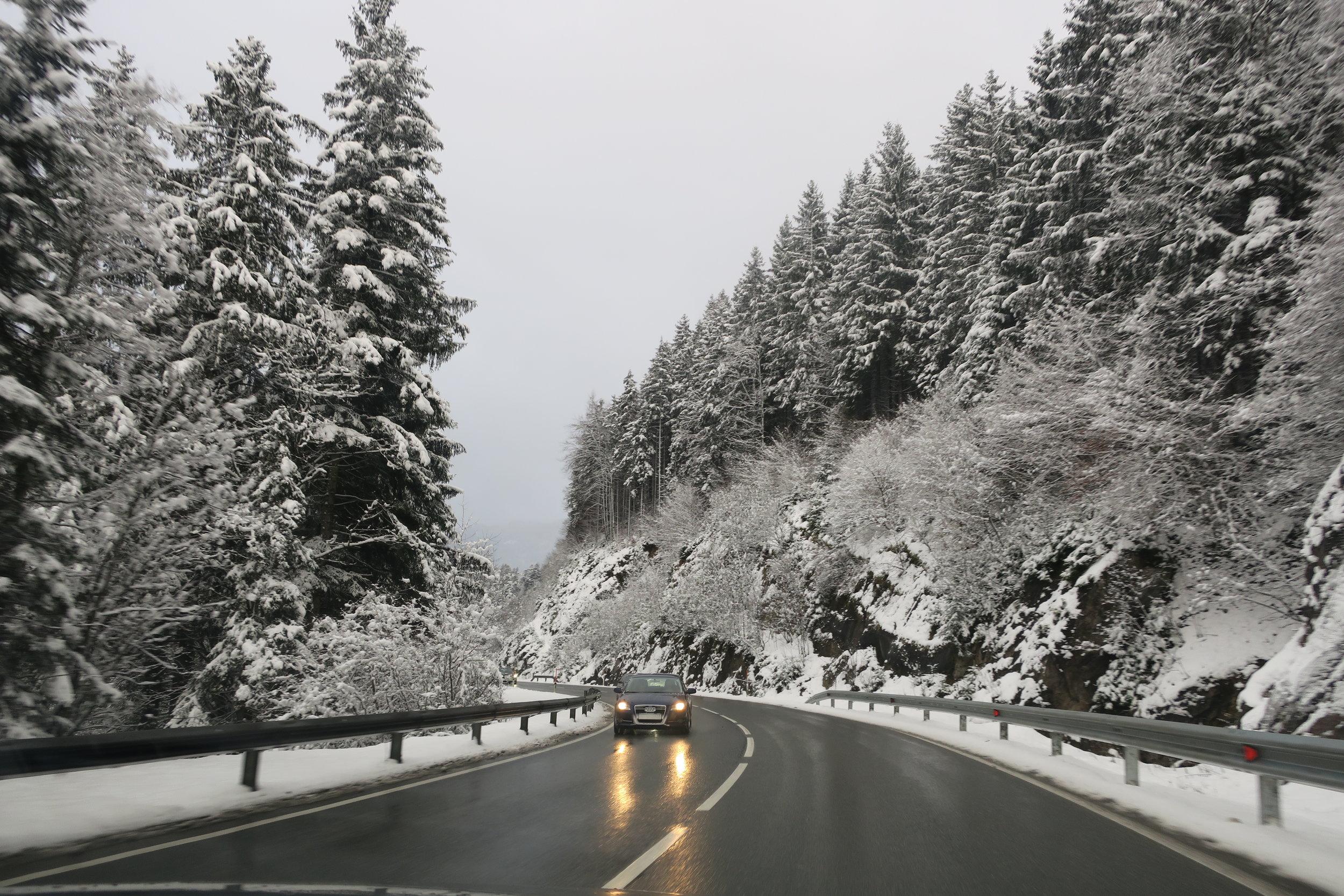 Na estrada para Fieberbrunn