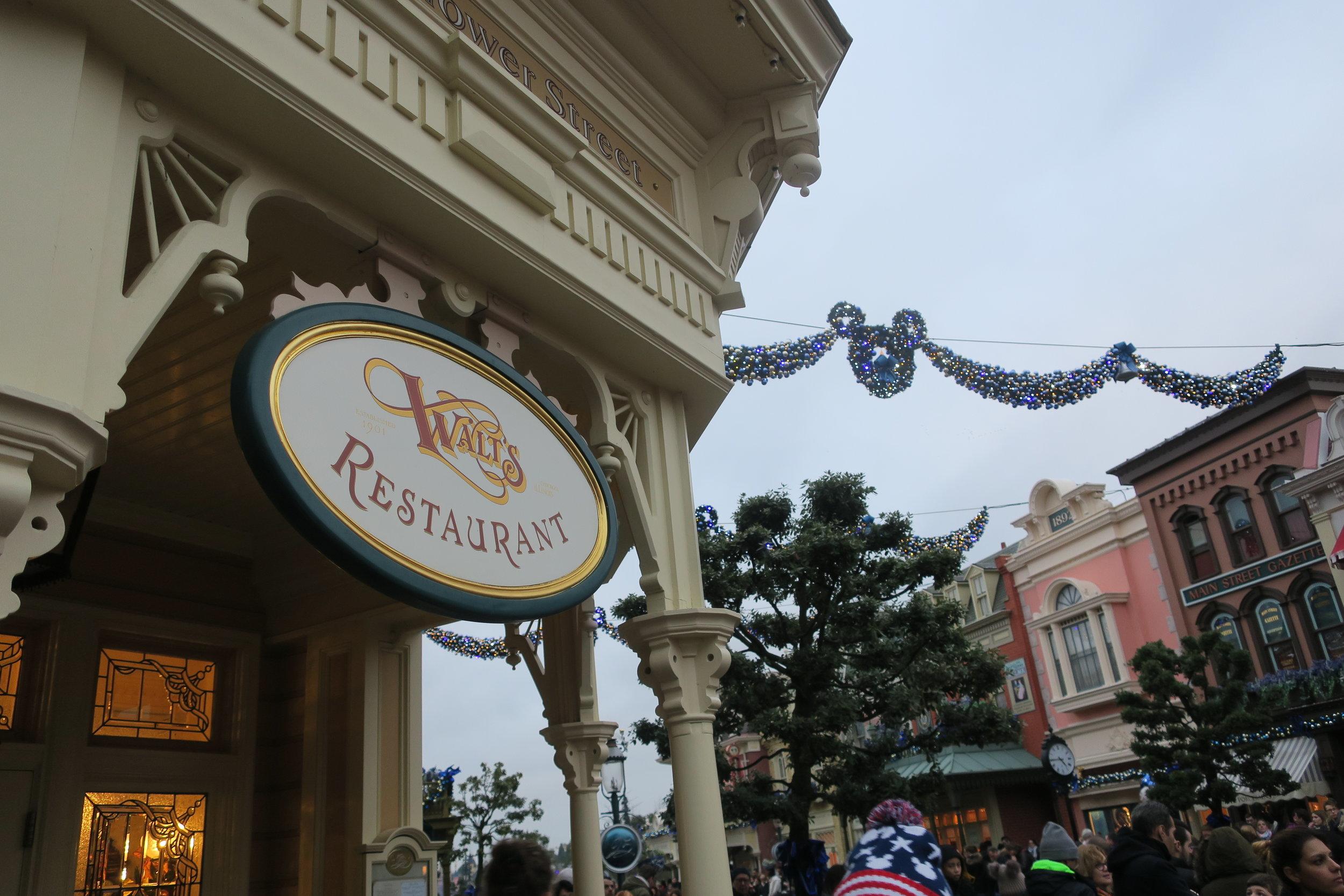 a entrada do restaurante Walts.