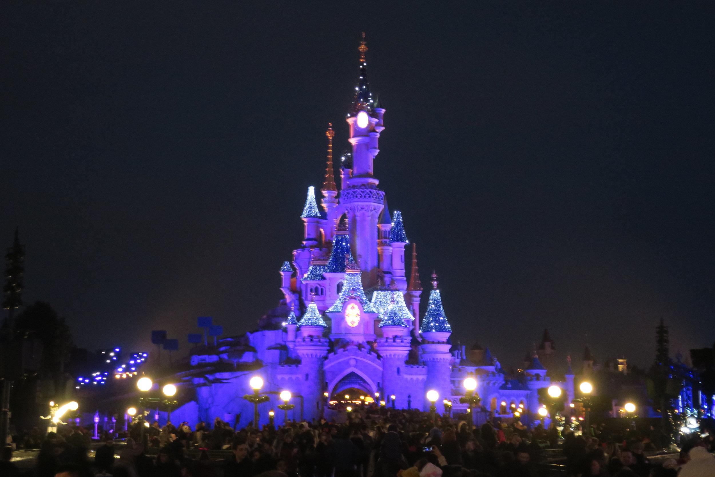 o castelo iluminado!