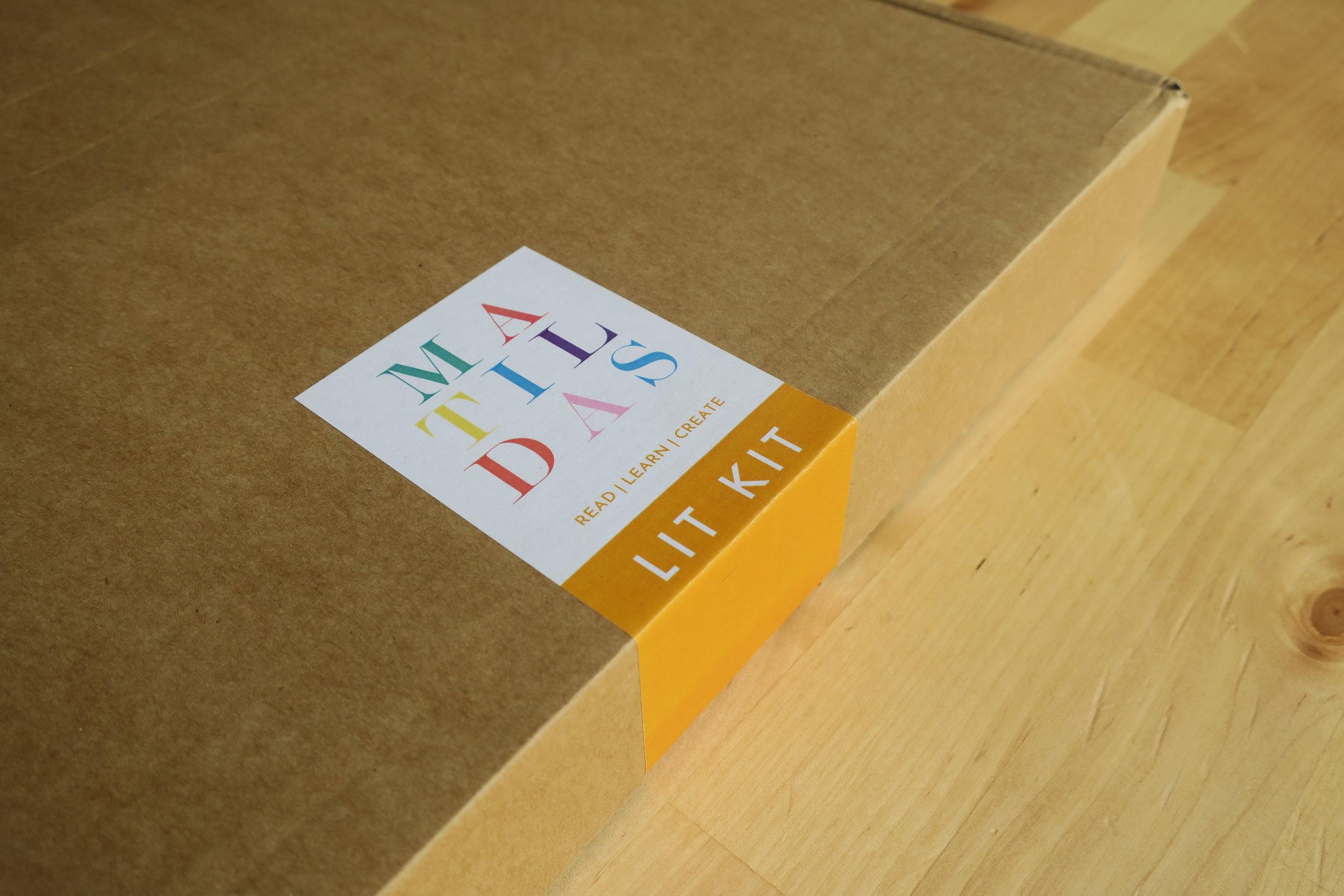 a caixa do Matildas Kit Lit.