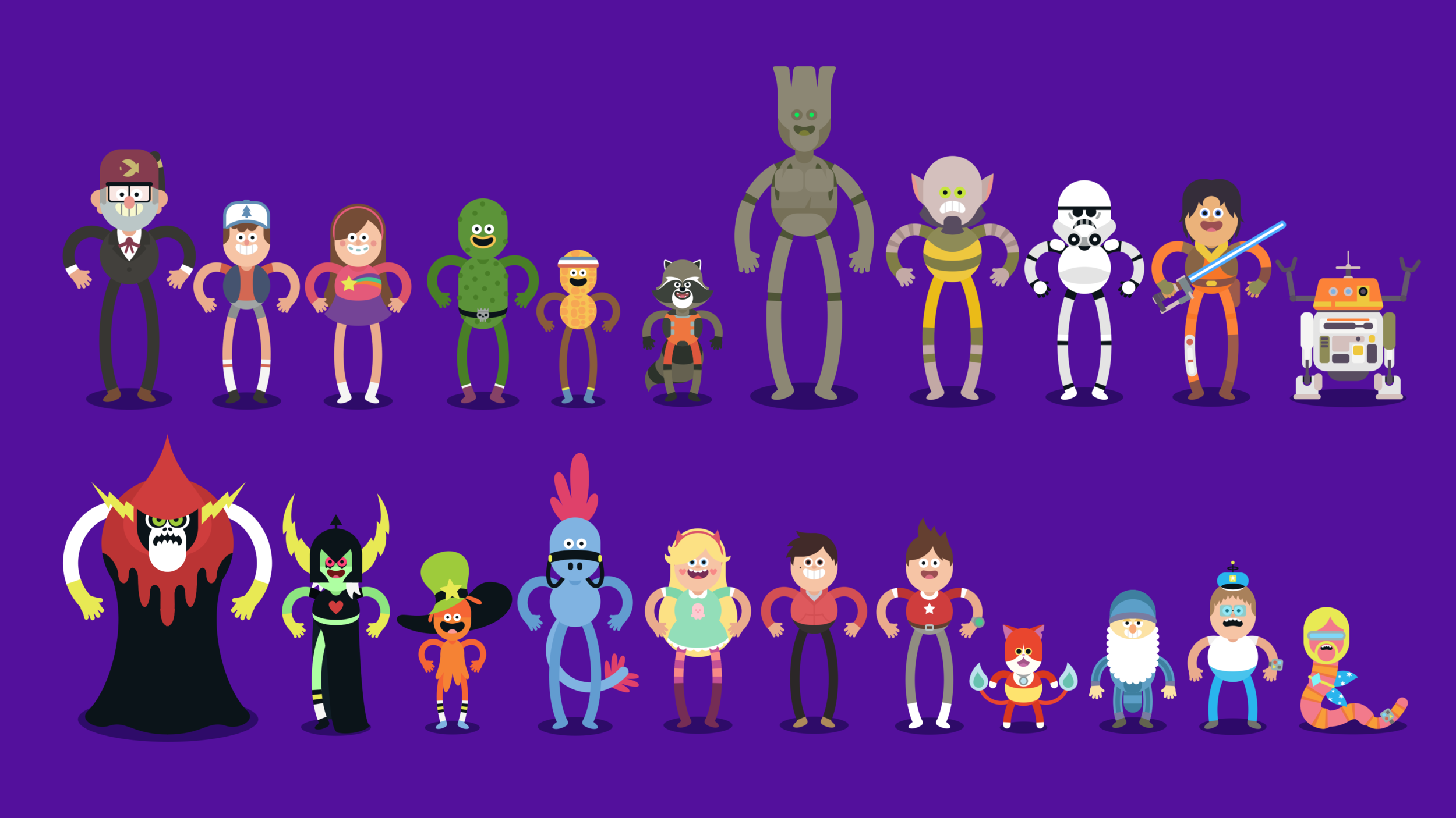 The full cast.