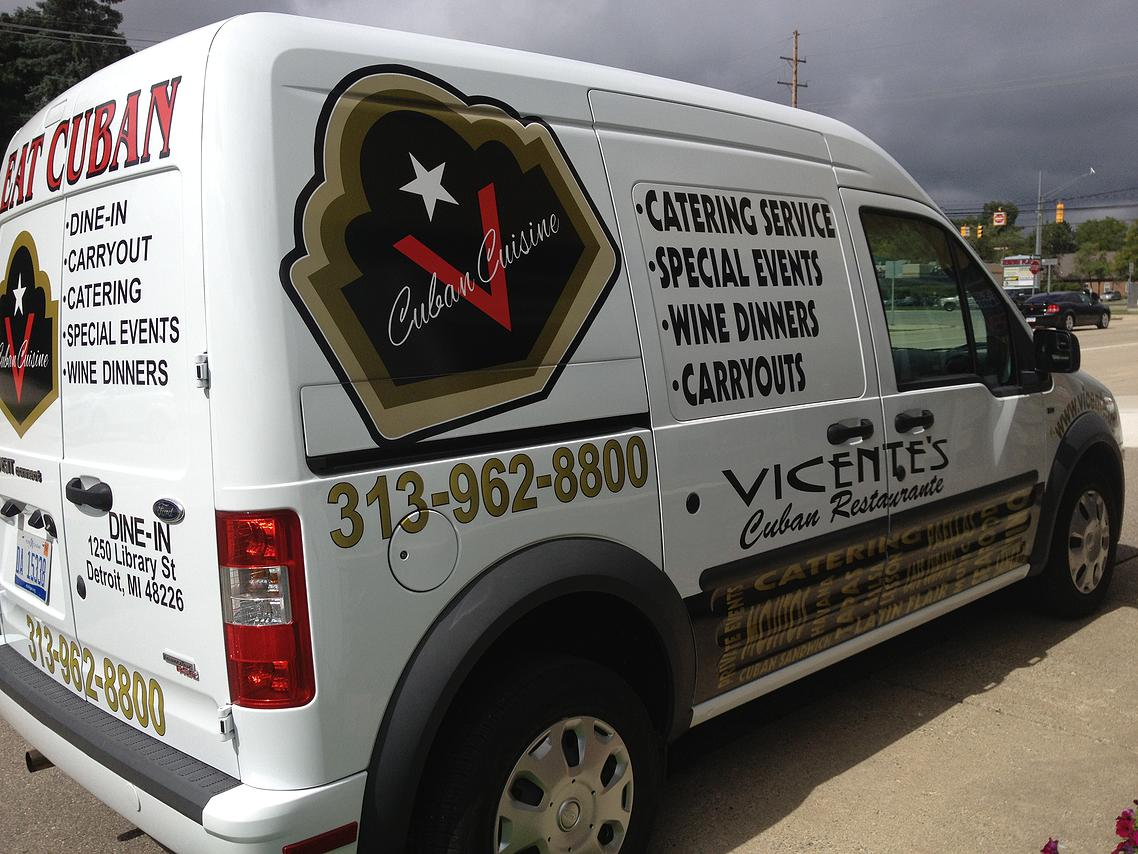 Partial Wrap with Lettering
