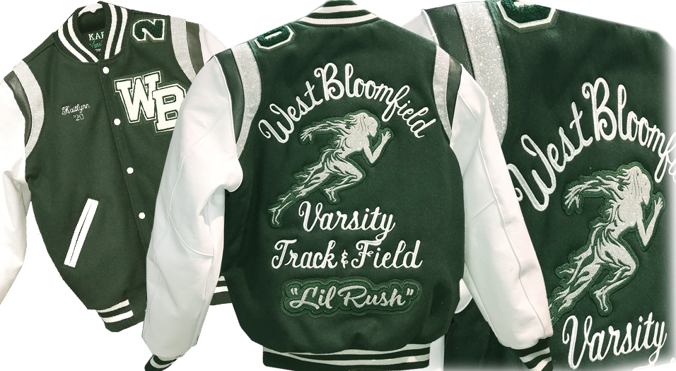 Diamond Sparkle in the back design as well as the shoulder stripes.