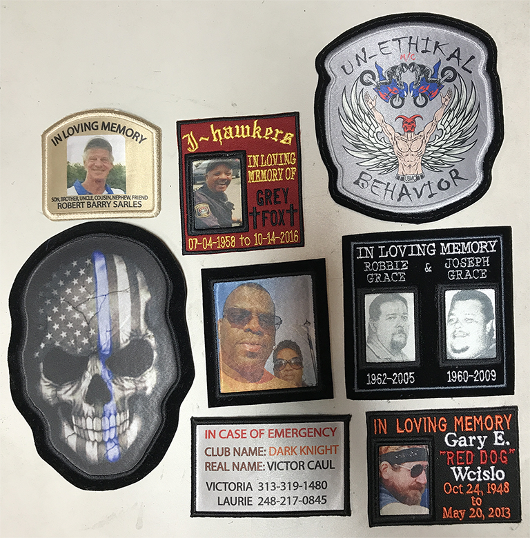 Picture patches, where any picture can be embedded into the fabric.
