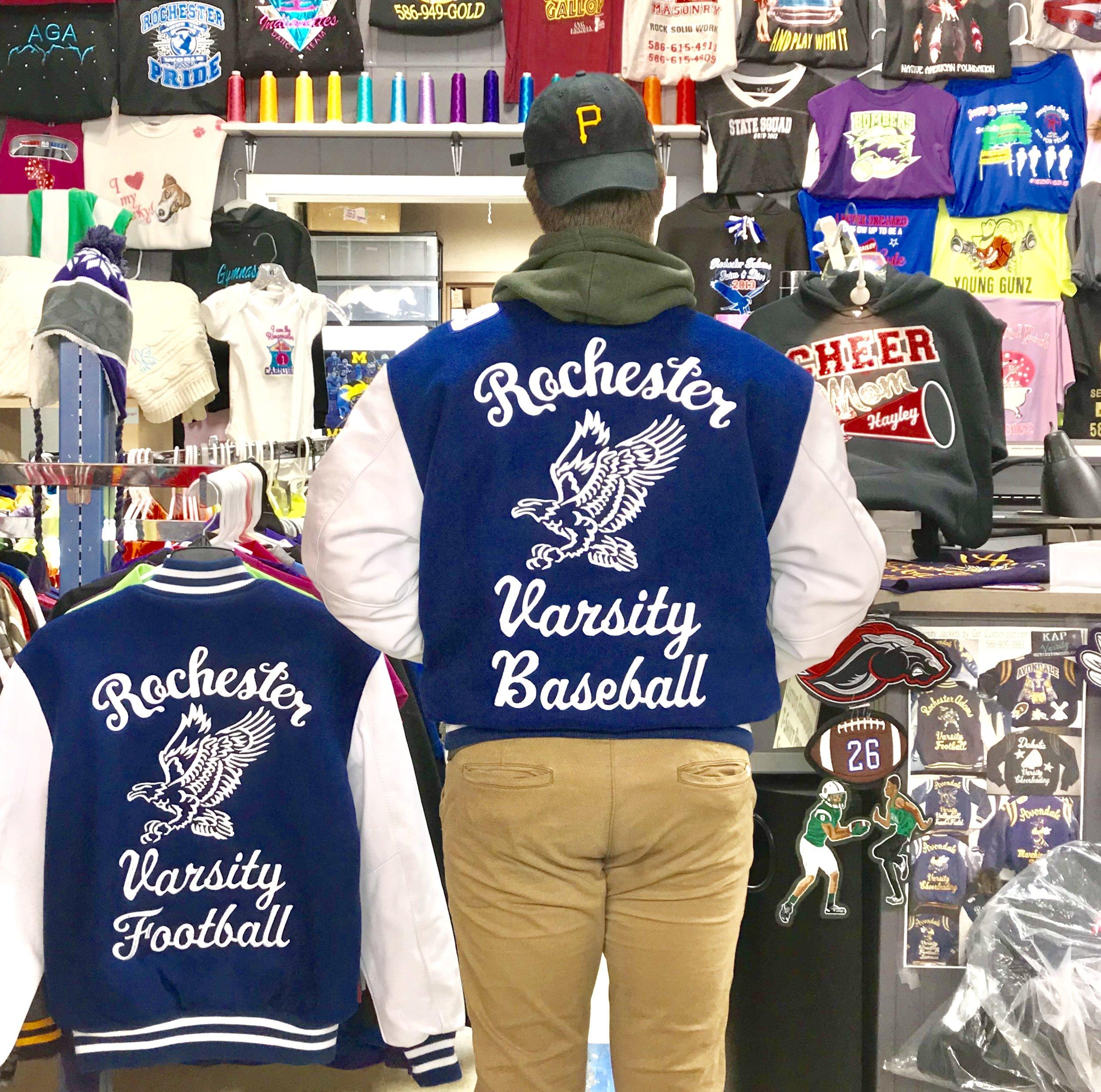 Rochester Varsity Jacket Huge Designs