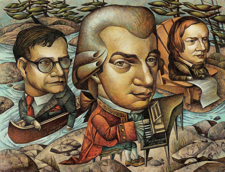 Shostakovitch, Mozart and Schumann