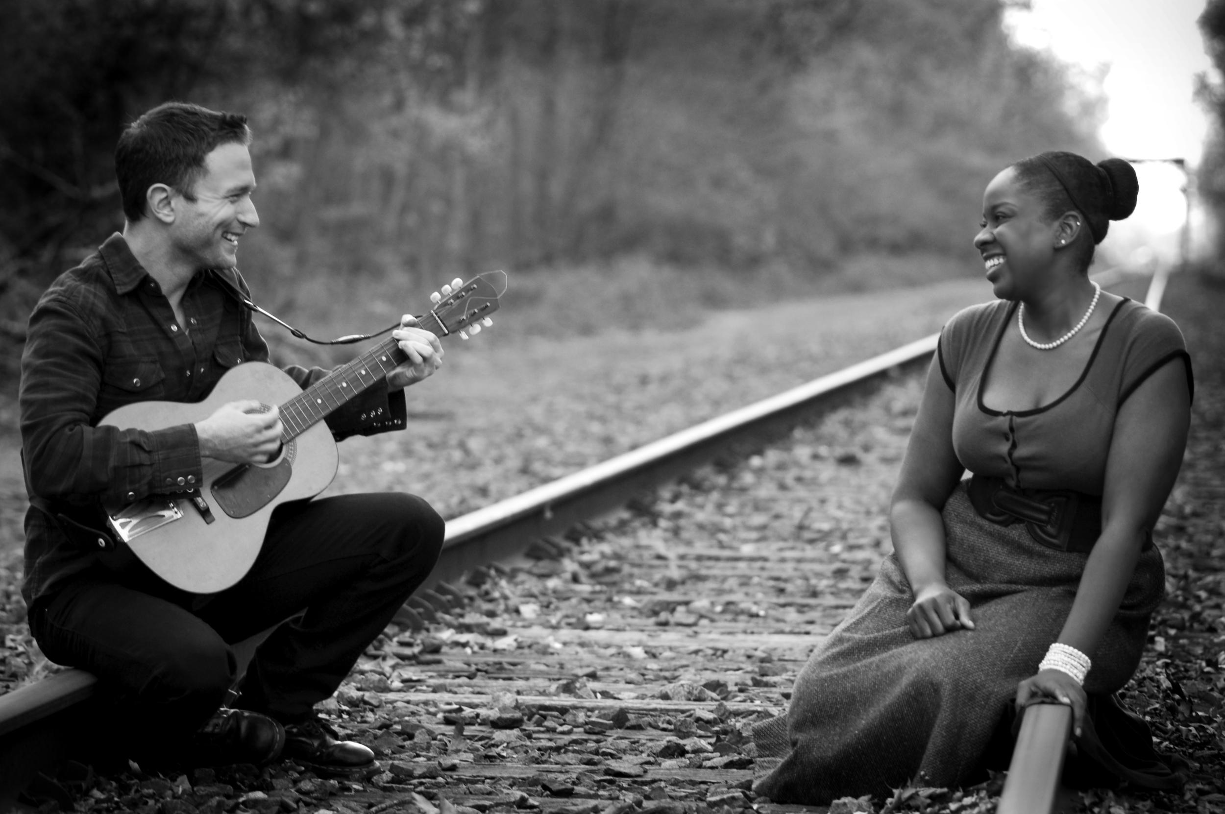 Mattie and James laugh (photo by Stephen Davila).jpg