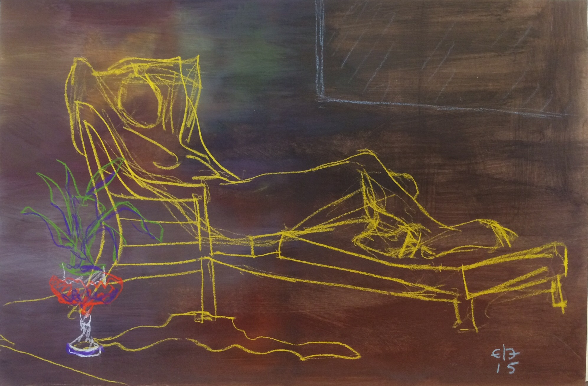 """Chillaxin' (2015, 12""""H x 18""""W) [Private Collection]"""