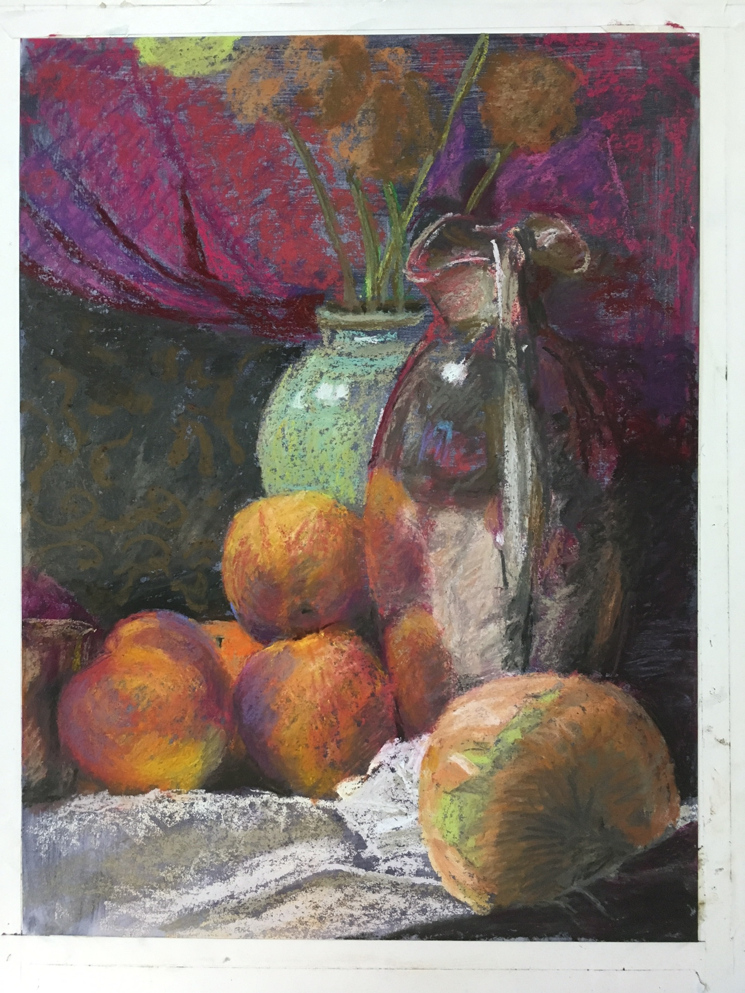 """Clayton Sets the Table (2016, 12""""H x 16""""W) [Private Collection]"""