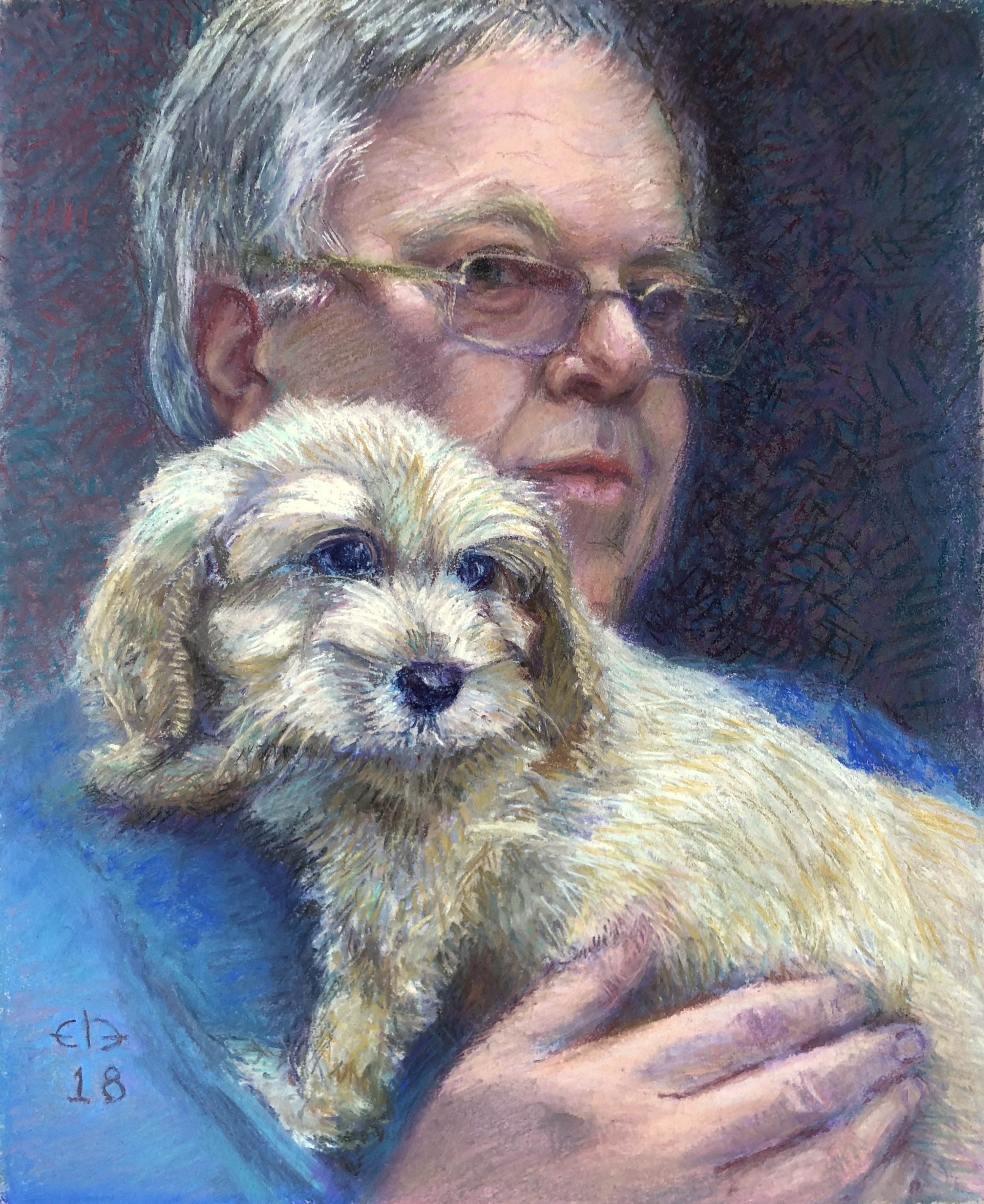 Myles and Doug the Pup (2018) [Private Collection]