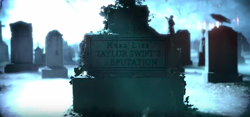 A scene from Taylor Swift's latest music video