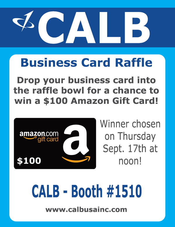 CALB USA Inc. Raffle Flier for The Battery Show