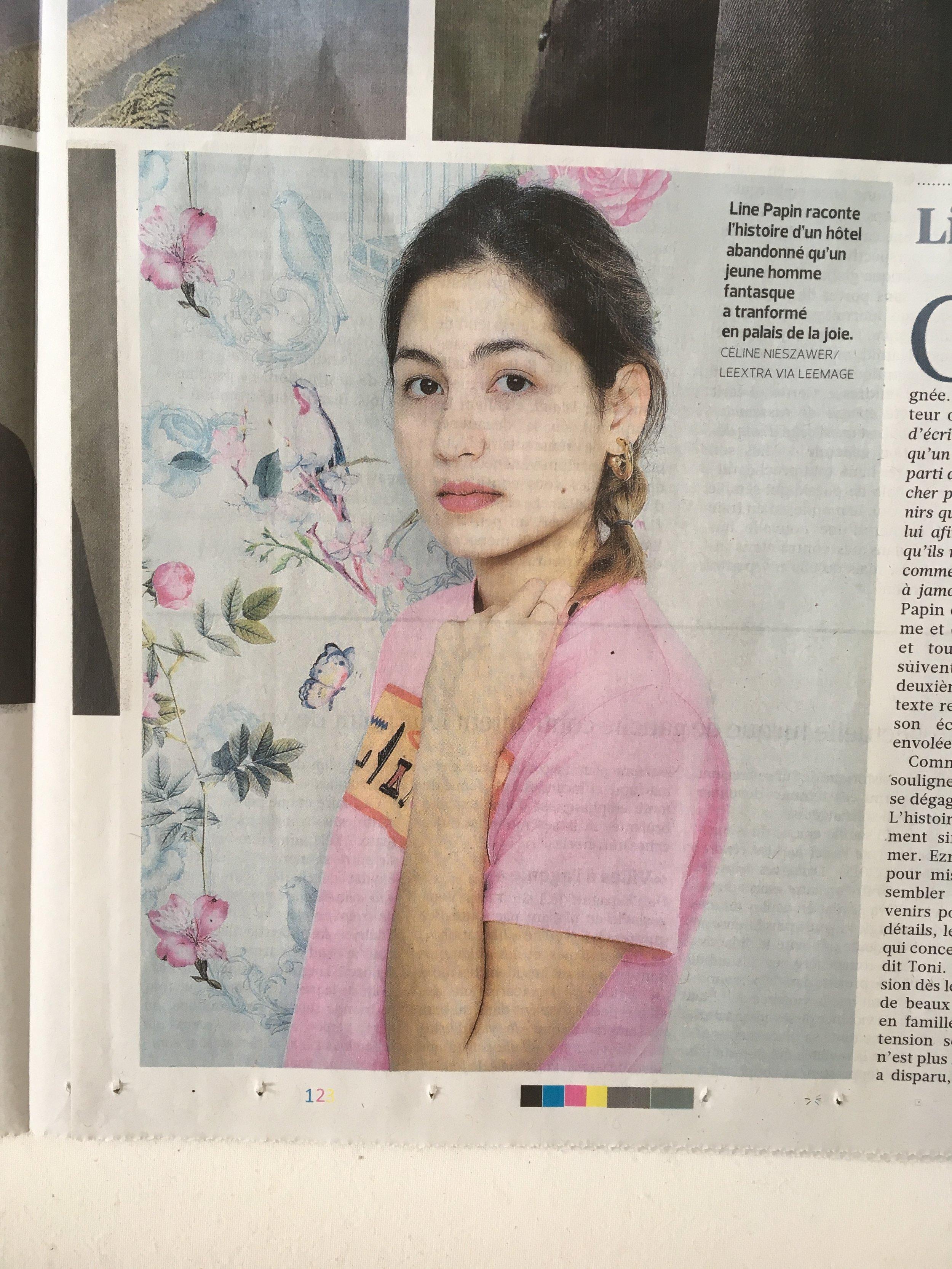 Line Papin dans le Figaro - Mars 2018