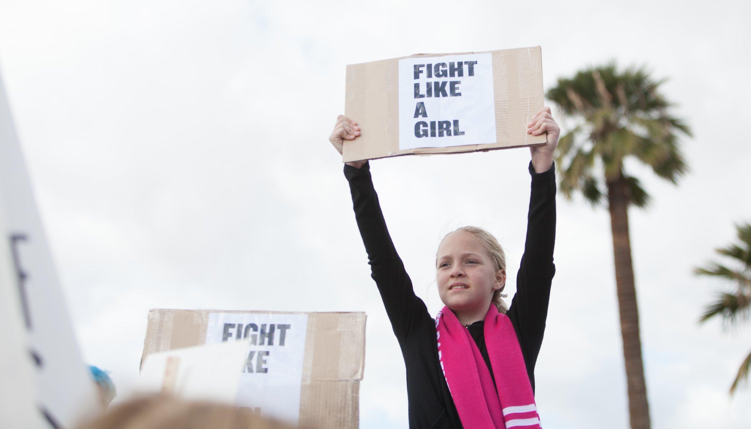 MWM - Fight like a girl sign.jpg